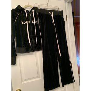 Bebe authentic black Zip-up hoodie tracksuit
